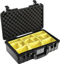 PELI 1525PD AIR CASE With padded dividers, internal dimensions 521x287x171mm, black