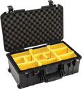 PELI 1535PD AIR CASE With padded dividers, wheeled, internal dimensions 518x284x183mm, black
