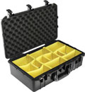 PELI 1555PD AIR CASE With padded dividers, internal dimensions 584x324x191mm, black