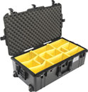 PELI 1615PD AIR CASE With padded dividers, wheeled, internal dimensions 752x394x238mm, black