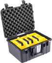 PELI 1507PD AIR CASE With padded dividers, internal dimensions 385x289x216mm, black