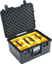 PELI 1557PD AIR CASE With padded dividers, internal dimensions 440x330x248mm, black