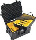PELI 1607PD AIR CASE With padded dividers, internal dimensions 535x402x295mm, black