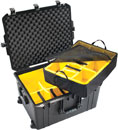 PELI 1637PD AIR CASE With padded dividers, internal dimensions 595x446x337mm, black