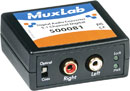 MUXLAB 500081 DIGITAL AUDIO CONVERTER Dolby 5.1, S/PDif RCA, Toslink in, 2x RCA (phono) analogue out