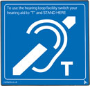 CONTACTA IL-AE97-00 SUPERLOOP AERIAL Hearing loop sign, blue