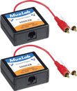 MUXLAB 500028-2PK BALUN Analogue audio x2, hi-fi, 2x male RCA (phono), pack of 2