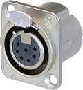 NEUTRIK NC7FD-LX XLR Female panel connector, nickel shell, silver contacts
