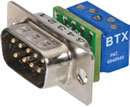 BTX CD-DB9MEZBR D-SUB 9 pin male, panel mount, micro screw terminal