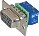 BTX CD-HD15FEZBR D-SUB HD 15 pin female, panel mount, micro scr. terminal