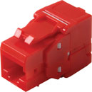 TUK KEYSTONE RJ45 IDC SOCKET Cat6 tool-less, red
