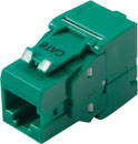 TUK KEYSTONE RJ45 IDC SOCKET Cat6 tool-less, green
