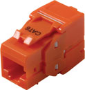 TUK KEYSTONE RJ45 IDC SOCKET Cat6 tool-less, orange