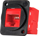 TUK D-SERIES KEYSTONE RJ45 IDC SOCKET Cat6 tool-less, red