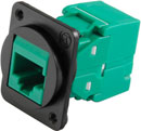 TUK D-SERIES KEYSTONE RJ45 IDC SOCKET Cat6 tool-less, green