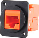TUK D-SERIES KEYSTONE RJ45 IDC SOCKET Cat6 tool-less, orange