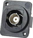 TUK D-SERIES KEYSTONE COUPLER BNC female to BNC female, 50 ohm, black
