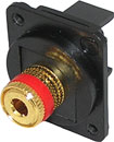 TUK D-SERIES KEYSTONE LOUDSPEAKER BINDING POST TERMINAL Red ID ring, black