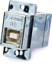 L-COM ECF504-BAS PANEL MOUNT KEYSTONE COUPLER USB 2.0 B-female (front) to A-female (rear), screened