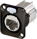 NEUTRIK NE8FDX-Y6-B ETHERCON CAT6A Panel mounting, shielded, IDC termination, black