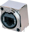 NEUTRIK ETHERCON NE8FBH-S Panel mounting, horizontal PCB, shielded