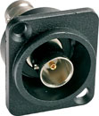 CANFORD D-SERIES Recessed BNC (double-sided), 50 ohm, black