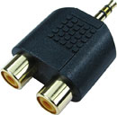 ADAPTER 2PHF-3MJP 2 x RCA (phono) female - 3-pole 3.5mm jack plug, Economy