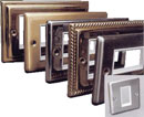 RPP EASYCLIP FACEPLATE BRDE363 1-gang, raised, half module, brushed stainless, white trim