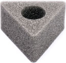 MICROPHONE FLAG Triangular,spare foam block, 33mm hole
