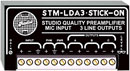 RDL STM-LDA3 MICROPHONE PREAMPLIFIER 3x line outputs, 24V phantom power, up to 60dB gain