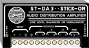 RDL ST-DA3 DISTRIBUTION AMPLIFIER Line level, 1x3, balanced/unbalanced