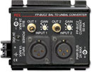 RDL FP-BUC2 CONVERTER Audio, balanced to unbalanced, XLR in, RCA (phono) out, 2 channel
