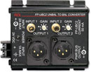 RDL FP-UBC2 CONVERTER Audio, unbalanced to balanced, RCA (phono) in, XLR out, 2 channel