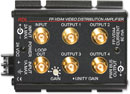RDL FP-VDA4 DISTRIBUTION AMPLIFIER Video, 1x4, NTSC/PAL, input loop out, BNC I/O