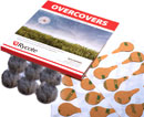 RYCOTE 065521 OVERCOVERS MIC MOUNTS Stickies and fur Overcovers, grey (1pk of 30+6)