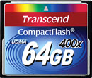 TRANSCEND COMPACT FLASH CARDS - High speed