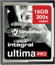 INTEGRAL INCF16G300W ULTIMAPRO COMPACT FLASH CARD  300X, 16GB