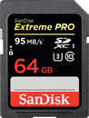 SANDISK SDSDXXG-064G-GN4IN EXTREME PRO 64GB SDXC MEMORY CARD, UHS-I, class 10, 95MB/s