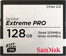 SANDISK SDCFSP-128G-G46D EXTREME PRO 128GB CFAST 2.0 MEMORY CARD, 525MB/s read, 450MB/s write