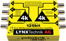LYNX YELLOBRIK DVD 1423 DISTRIBUTION AMPLIFIER Video, dual 1x3, 4K, 12G SDI