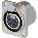 NEUTRIK NC4FD-LX-M3 XLR Female panel connector, nickel shell, silver contacts, M3 holes