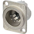 NEUTRIK NC5MD-LX XLR Male panel connector, nickel shell, silver contacts