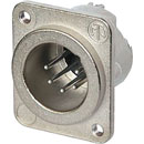 NEUTRIK NC5MD-LX-M3 XLR Male panel connector, nickel shell, silver contacts, M3 holes