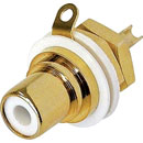 REAN NYS367-9 RCA (PHONO) PANEL SOCKET Gold contacts, white ring