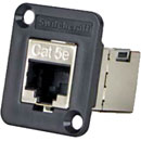 SWITCHCRAFT EHRJ45P5ES Cat5E, shielded, fem-fem feedthrough, black