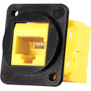 TUK D-SERIES KEYSTONE RJ45 IDC SOCKET Cat6 tool-less, yellow