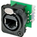 NEUTRIK ETHERCON NE8FDV-YK-B Panel mnt, black, Krone IDC termination