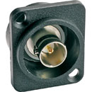 CANFORD D-SERIES Recessed BNC (solder), 75 ohm, black