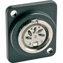 D-SERIES 5 pin DIN, black