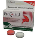 PROGUARD MOULD-YOUR-OWN EARPLUGS Red
